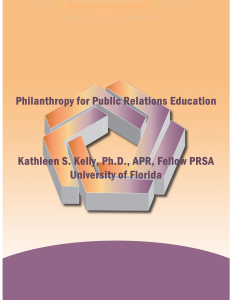Philanthropy for Public Relations Education (cover)