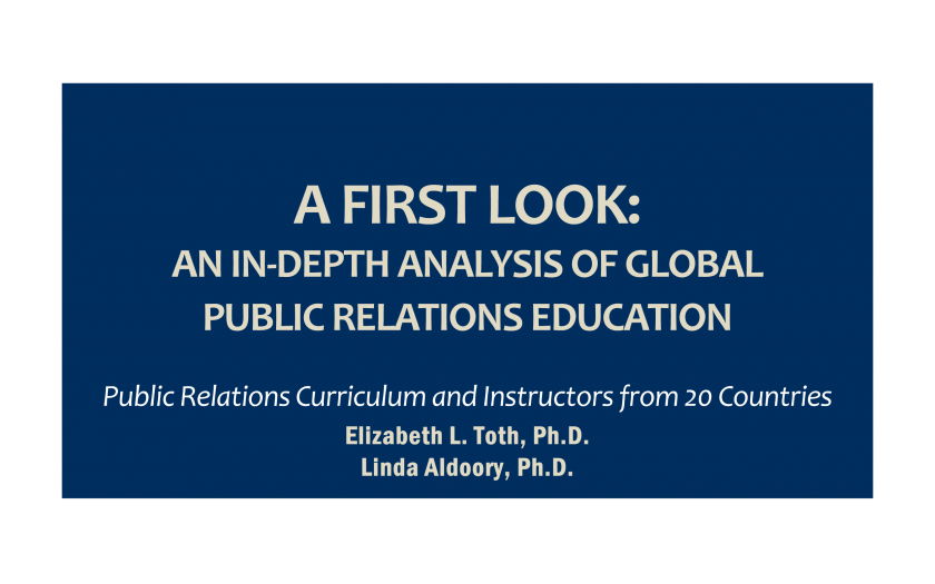 A First Look: An in-depth Analysis of Global Public Relations Education (cover)